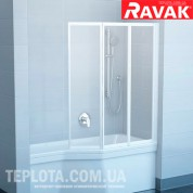 Штора для ванны Ravak VS3 100 white transparent (Чехия)