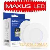 Светильник mini Maxus GLOBAL LED SPN 3W 3000K 220V (1-SPN-001-C)