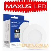 Светильник mini Maxus GLOBAL LED SPN 3W 4100K 220V (1-SPN-002-C)