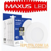 Светильник mini Maxus GLOBAL LED SPN 3W 3000K 220V (3 шт. в уп) (3-SPN-001-C)